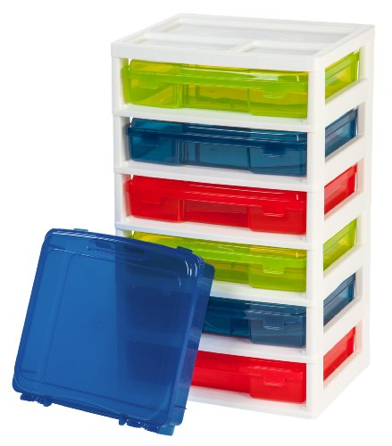 Scrapbook Iris Case - IRIS 6-Case Activity Chest with Organizer Top, Assorted Colors