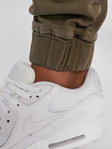 Jeans Jogger Vaqueros Ajustado 2Y Denim Hombres Marrón 1XEqxw85