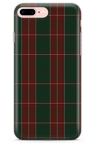 (iPhone 7 Plus Case, iPhone 8 Plus Case, St. David's Tartan Phone Case by Casechimp | Clear Ultra Thin Lightweight Gel Silicon TPU Protective Cover | Pattern Wales Rugby Kilt Football)