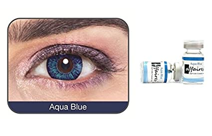 d4b4e1d2413 Image Unavailable. Image not available for. Colour  Affaires Color Contact  lenses Yearly Disposable Aqua ...