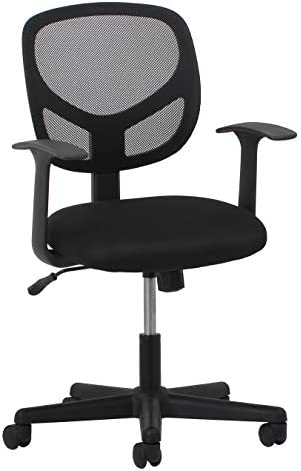 Essentials Swivel Mid Back Mesh Task Chair with Arms – Ergonomic Computer Office Chair