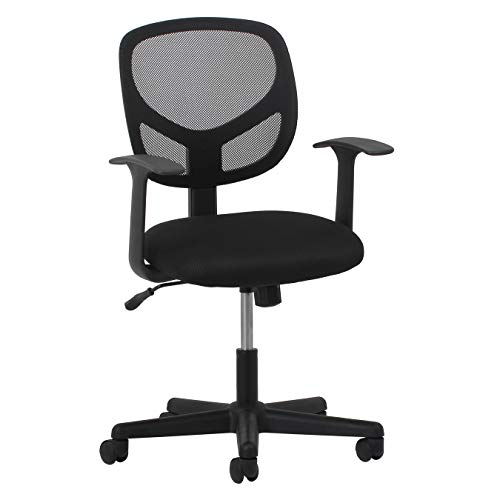 Office Chair Task Arm - Essentials Swivel Mid Back Mesh Task Chair with Arms - Ergonomic Computer/Office Chair (ESS-3001)