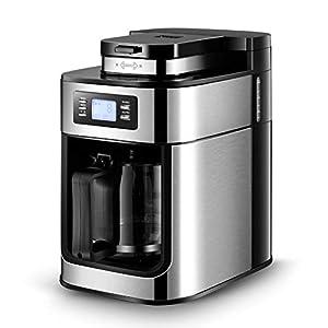 KOUDAG Macchina caffè Macchina da caffè AutomaticaHome1.2LMacchinada caffè elettrica Macchina da caffè inPolvere e tè Chicco di caff蠠Smerigliatrice con pentola
