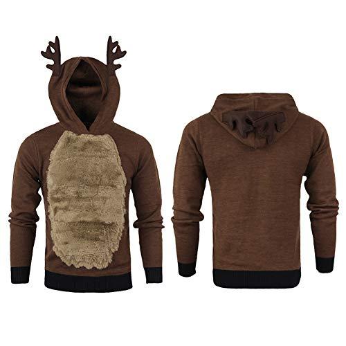 GzxtLTX Christmas Hoodies Christmas Sweater Reindeer Elk
