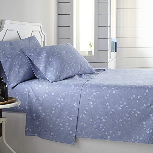 Southshore Fine Living, Inc. The Vilano Choice Collection 4 Piece Sheet Set, Blossom Blue, Full