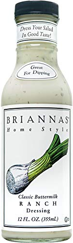 Briannas Ranch Salad Dressing, Classic Buttermilk, 12 Ounce