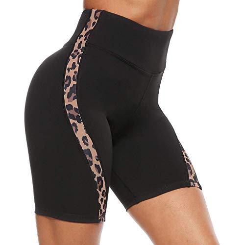 Ahagogo Yoga Pants High Waist Tummy Control Workout Running Stretching Yoga Leggings Womens Workout Shorts Gym Yoga Shorts Leggings Shorts Brown