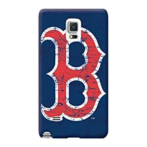 Perfect Cell-phone Hard Cover For Samsung Galaxy Note 4 With Customized Trendy Boston Red Sox Pictures AshtonWells
