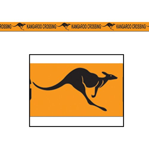 Kangaroo Crossing Poly Decorating Material Party Accessory (1 count) (1/Pkg)