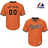 Majestic New V-Neck Baltimore Orioles CUSTOM (Name/# on Back) or Blank Back MLB On Field Cool-base Pro Length Full Athletic Cut Uniform Jersey