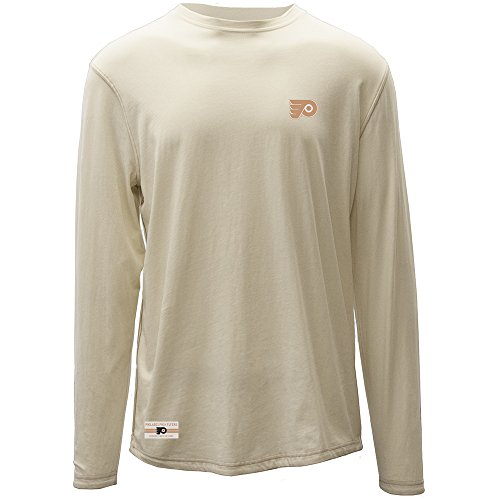 - Levelwear LEY9R NHL Philadelphia Flyers Adult Men Harbor Founder Long Sleeve Tee, Large, Silk White