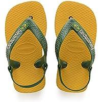 Havaianas, Sandálias New Baby Brasil Logo, Amarelo Banana, Tamanho 17-18 BR