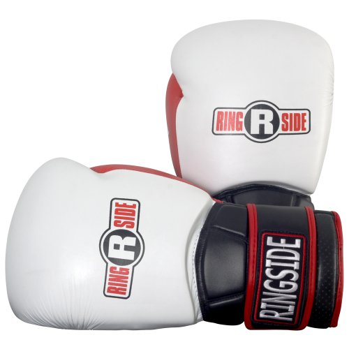 Ringside Pro Style IMF Tech Training Gloves, Elastic (White, 16-Ounce)