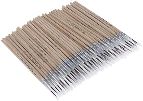 CUTICATE 約100本入り 超極細 ペイントブラシ 面相筆 ペイント 筆 画材筆 油絵 水彩 絵の具 全3サイズ - 7x2mm