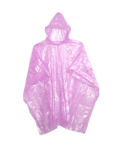 Emergency Pink Rain Ponchos - Lightweight & Disposable 10 Pack... (Cheap Mexican Ponchos)