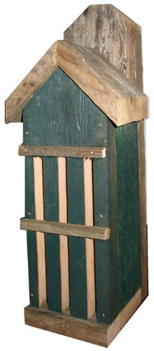 Nature Gift Store Butterfly House: Recycled Fence Wood, Green, Hand Made in Oklahoma USA