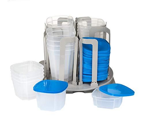 (Home Décor Premium Piece Swirl Around Food Storage Organizer Blue Storage Durable Strong Decorative)