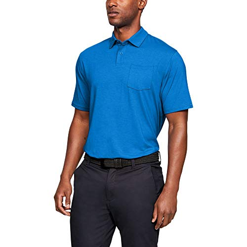 Under Armour mens Charged Cotton Scramble Golf Polo, Blue Circuit (436)/Blue Circuit, Medium