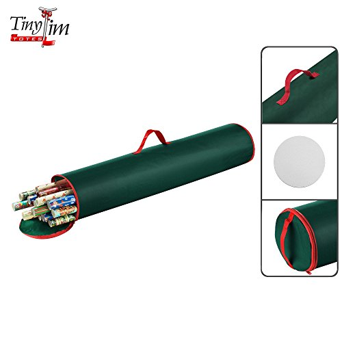 Tiny Tim Totes | Premium Canvas Gift Organizer | 40.5 inch Wrapping Paper | Green, 1-Pack