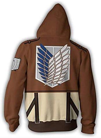 Attack on Titan The Recon Corp Eren Jager Windbreaker Wind Coat Cosplay Costume