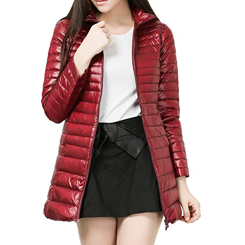 (Londony Fashion Coats in Women's Puffer Water-Resistant Hooded Packable Ultra Light Weight Down Jacket Outwear)