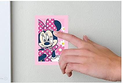 Minnie Mouse pink and white Lightswitch covers- Minnie bedroom decor