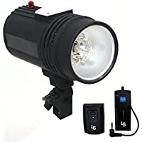LS Photography Flash Strobe Light 200 W, Sync Cord, Fuse, Test Button, Umbrella Input, Mount on Light Stand with, Radio Sync Transmitter & Receiver Professional Photography Use, Photo Studio, LGG626