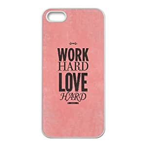 iPhone 5 5s Cell Phone Case White quotes work hard have fun no drama SP4283377