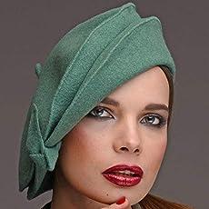 76c27b658d028e Amazon.com: RACEU ATELIER Brown Nuba Hat - Wide Brim Fedora Hat ...