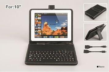 Funda con teclado para tablet de 10 pulgadas universal: Amazon.es: Electrónica
