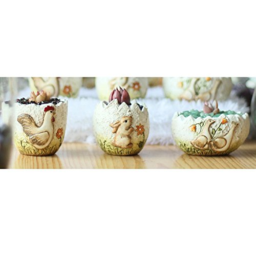 - Better-Way Crack Egg Shape Orchid Planter Pot Small Modern Decorative Ceramic Flower Plant Pot Home Office Desk Mini Succulent Cactus Container Indoor Decoration (Hand Painted, 3 Pack)