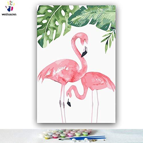KYKDY DIY Färbungen Bilder nach Zahlen mit mit mit Farben Flamingo Bild Zeichnung Malen nach Zahlen gerahmt Home Dekor drei Stücke, 3925,60x75 kein Rahmen B07MYTB44C | Spielzeugwelt, spielen Sie Ihre eigene Welt  405d5f
