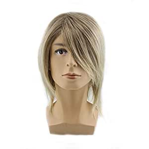 Halloween Cosplay Wig Anime Light Yellow Wig Men's Synthetic Hair Short Handsome All Match Hair Accessory