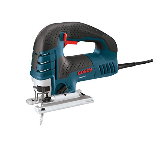 Bosch Power Tools Jig Saws - JS470E Corded Top-Handle Jigsaw - 120V Low-Vibration, 7.0-Amp Variable Speed For Smooth Cutting Up To 5-7/8' Inch on Wood, 3/8' Inch on Steel For Countertop, Woodworking