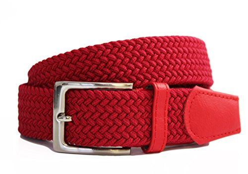 3XL Streeze 30mm Mens Stretch Belt in 6 Sizes Elastic Fabric Woven Braided Webbed Belt with Leather Buckle 5 Colours Sizes Small