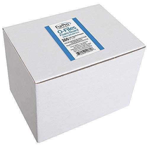 """ForPro O-Files Foam Board, 180/400 Grit, Zebra, Double-Sided Manicure Nail File, 6"""" L x .75"""" W, ()"""