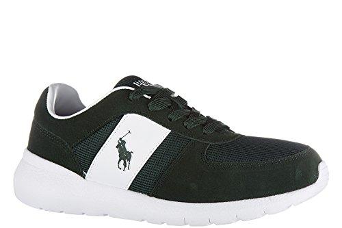 Polo chaussures homme en Ralph Lauren vert cordell sneakers daim Vert baskets 6rq1T6wE