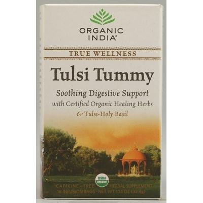 ORGANIC INDIA Tulsi True Wellness Tea Tummy - 18 Tea Bags, Pack of 2