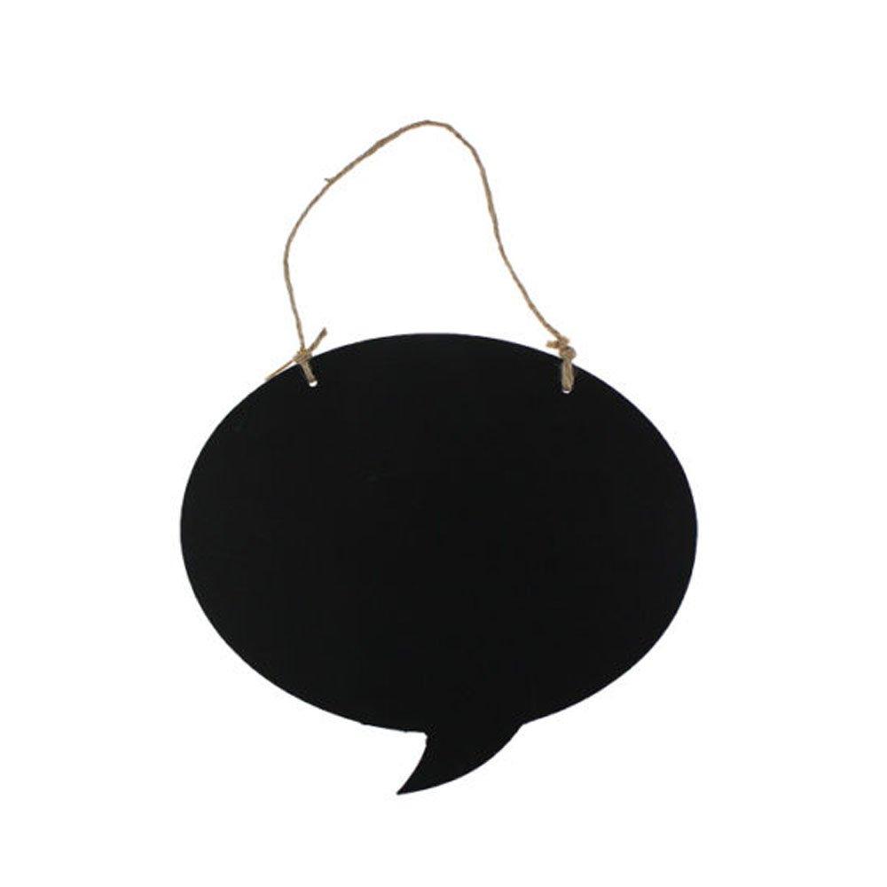 Chalk Board Blackboard Memo Notice Speech Bubble Hanging Message Kitchen Plaque Ardisle