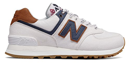 承認する進むドラフト(ニューバランス) New Balance 靴?シューズ レディースライフスタイル 574 White with Vintage Indigo ホワイト インディゴ US 8 (25cm)