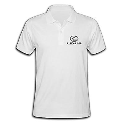 Men's Lexus Logo Solid Short Sleeve Pique Polo Shirt
