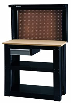Stack-On WB-402 Steel Reloading Workbench with Back Wall