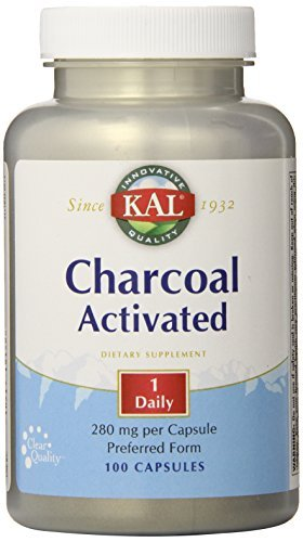 KAL Charcoal, 280 mg, 100 Capsules by Kal (Kal Charcoal)