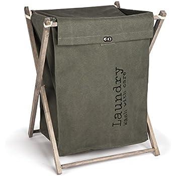 Amazon Com Danya B Army Canvas Folding Laundry Hamper