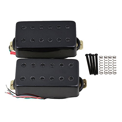 - Yibuy Black 50mm/52mm Bridge & Neck Humbucker Pickups Set for Electric Guitar Set of 2
