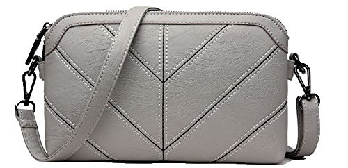 Fashion Voguezone009 Crossed Bag Zipper Gray Bags Women Clutch Ccaybp180871 Pu Ep4Hwqpr