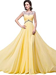 Amazon.com: Yellow - Prom &amp Homecoming / Dresses: Clothing Shoes ...