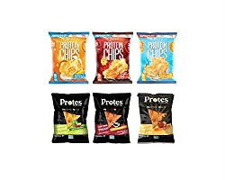 Snack Protein Chips Variety Packs - Includes Quest Nutrition Protein Chips & Protes Protein Chips. (6)