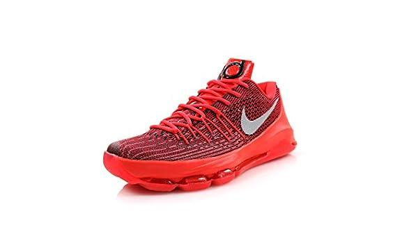 NIKE KD 8 Mens Basketball Shoes 749375-610 Bright Crimson Black ...