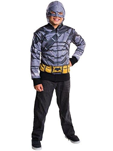 Rubie's Costume Batman v Superman: Dawn of Justice Armored Batman Child Hoodie, -